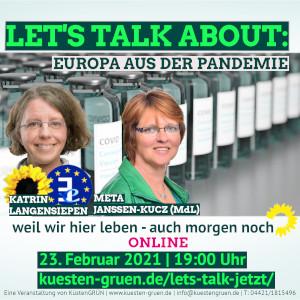 Let's talk about... Europa aus der Pandemie